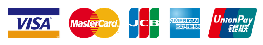 VISA、MASTER、JCB、AE、Unoin Pay